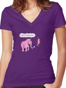 I drink to get trunk Women's Fitted V-Neck T-Shirt