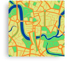 Seamless pattern of city map. Canvas Print