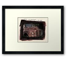 old love Framed Print
