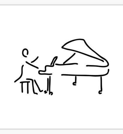 pianist musician plays the piano Sticker