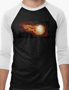 Fiery Golfball Men's Baseball ¾ T-Shirt