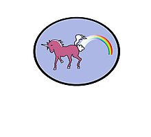 Rainbow Farting Unicorn Photographic Print