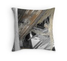 Looking Directly Above: Farmhouse on Russell Farm Rd Throw Pillow
