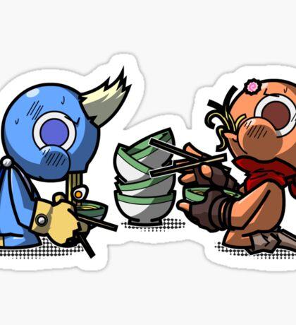 Yuki VS Honoo: Eat! Sticker