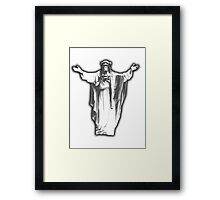 Jesus Chimp Framed Print