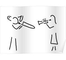 posaunist trumpet player brass player Poster