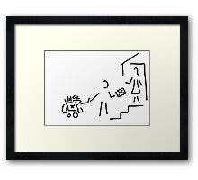 postman mailman post Framed Print