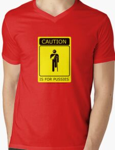 Caution is for.. Mens V-Neck T-Shirt