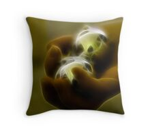 Holding the worlds Throw Pillow