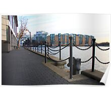 Riverside Walk at Millwall Docks Poster