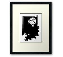 PNW:GB - Washington State (blk) Framed Print