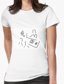 travel agency travel agent Womens Fitted T-Shirt