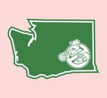 PNW:GB - Washington State (grn) One Piece - Short Sleeve