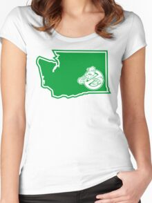 PNW:GB - Washington State (grn) Women's Fitted Scoop T-Shirt