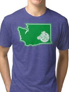PNW:GB - Washington State (grn) Tri-blend T-Shirt