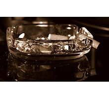 Filthy ashtray Photographic Print