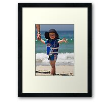 Little Iron Man! Framed Print