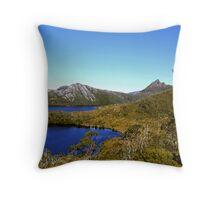 Lake Lilla, Dove Lake and Cradle Mountain  - Cradle Mountain and Lake St Clair National Park, Tasmania Throw Pillow