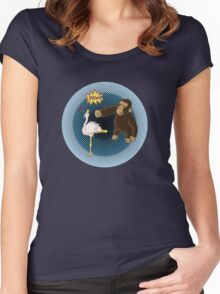 Crane Style Versus Monkey Fist Women's Fitted Scoop T-Shirt