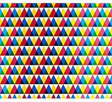 Triangle geometric multiply pattern Photographic Print