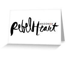 Madonna Rebel Heart Logo BLK Greeting Card