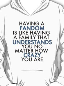 Fandom Understands Crazy (Black) T-Shirt