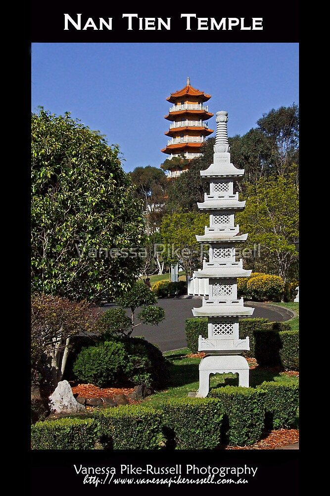 Nan Tien Buddhist Temple - Pagoda view by Vanessa Pike-Russell