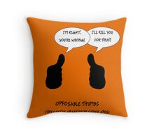 Opposable thumbs Throw Pillow