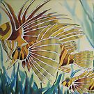 Lion Fish watercolour painting by coolart