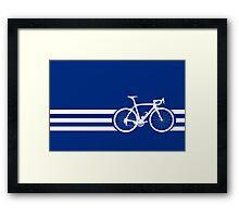 Bike Stripes White x 3 Framed Print