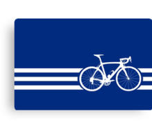 Bike Stripes White x 3 Canvas Print
