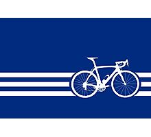 Bike Stripes White x 3 Photographic Print