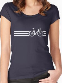 Bike Stripes White x 3 Women's Fitted Scoop T-Shirt