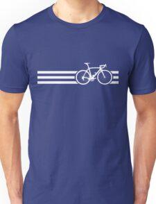 Bike Stripes White x 3 Unisex T-Shirt