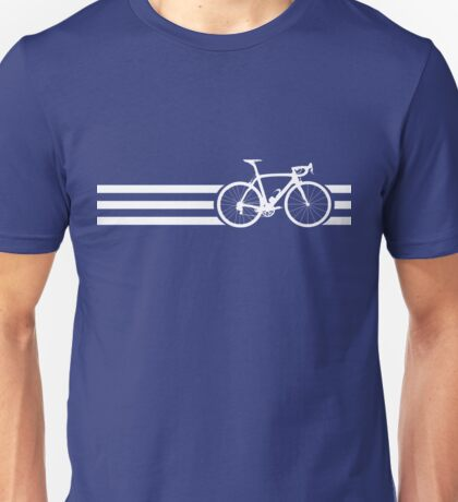 Bike Stripes White x 3 Unisex T-Shirt