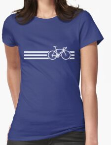 Bike Stripes White x 3 Womens Fitted T-Shirt