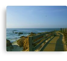 Boardwalk at Pebble Beach Canvas Print