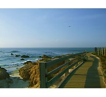 Boardwalk at Pebble Beach Photographic Print