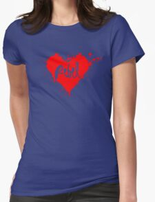 Rebel HEART Womens Fitted T-Shirt
