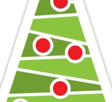 Modern Christmas tree sticker Sticker