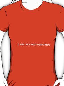 SRS photographer (white text) T-Shirt