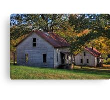 Henry River Mill Houses Canvas Print