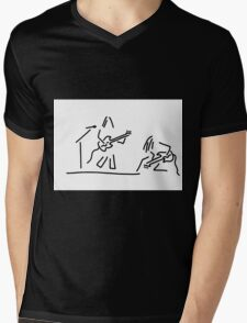 rock musician guitar headbanger Mens V-Neck T-Shirt