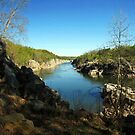 The Mather Gorge at Great Falls Park, Virginia by Bine