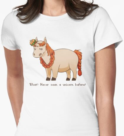 Bombur the Unicorn Womens Fitted T-Shirt