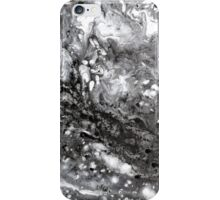 Snowstorm winter snow abstract black white iPhone Case/Skin