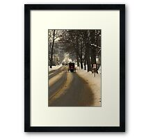 It's another cold night in a small town Framed Print