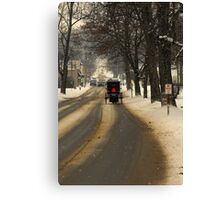 It's another cold night in a small town Canvas Print
