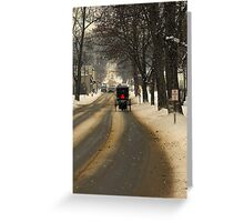 It's another cold night in a small town Greeting Card