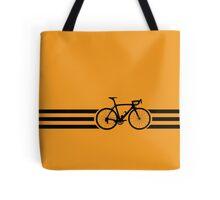 Bike Stripes Black Tote Bag